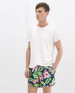 Bañadores Hombre Zara Tropical