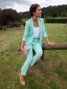 paula-echevarria-traje verde menta