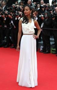 Zoe Saldana Cannes 2014 Victoria Beckham