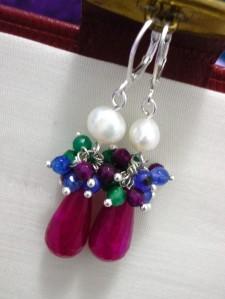 Pendientes Ágatas y Perlas